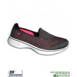 Skechers GOWALK 4 kindle Memory Foam Mujer 14145/BKHP negro-rosa personalizable