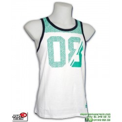 Camiseta Tirantes JOHN SMITH OSTUNI Blanca-Verde Hombre