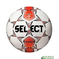 Balon Futbol SELECT CONTRA 5 Blanco-Rojo hierba artificial