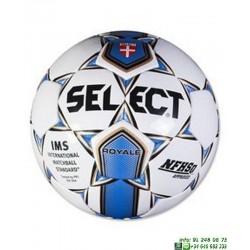 Balon Futbol SELECT ROYALL Blanco-Azul hierba natural