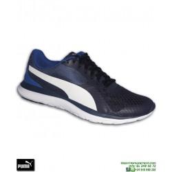 Deportiva Puma FLEX T1 Azul Marino Running training 362386-02 hombre zapatilla