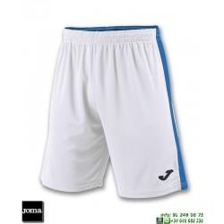 JOMA Pantalon Corto TOKIO II SHORT Futbol BLANCO AZUL ROYAL 100684.207