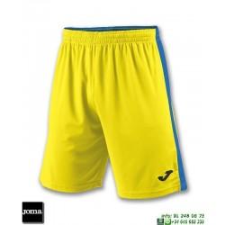 JOMA Pantalon Corto TOKIO II SHORT Futbol AMARILLO AZUL ROYAL 100684.907