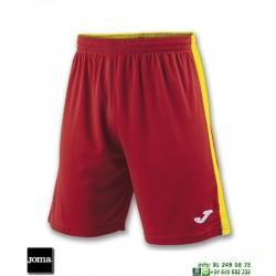 JOMA Pantalon Corto TOKIO II SHORT Futbol ROJO - AMARILLO 100684.609
