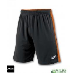 JOMA Pantalon Corto TOKIO II SHORT Futbol NEGRO NARANJA 100684.108