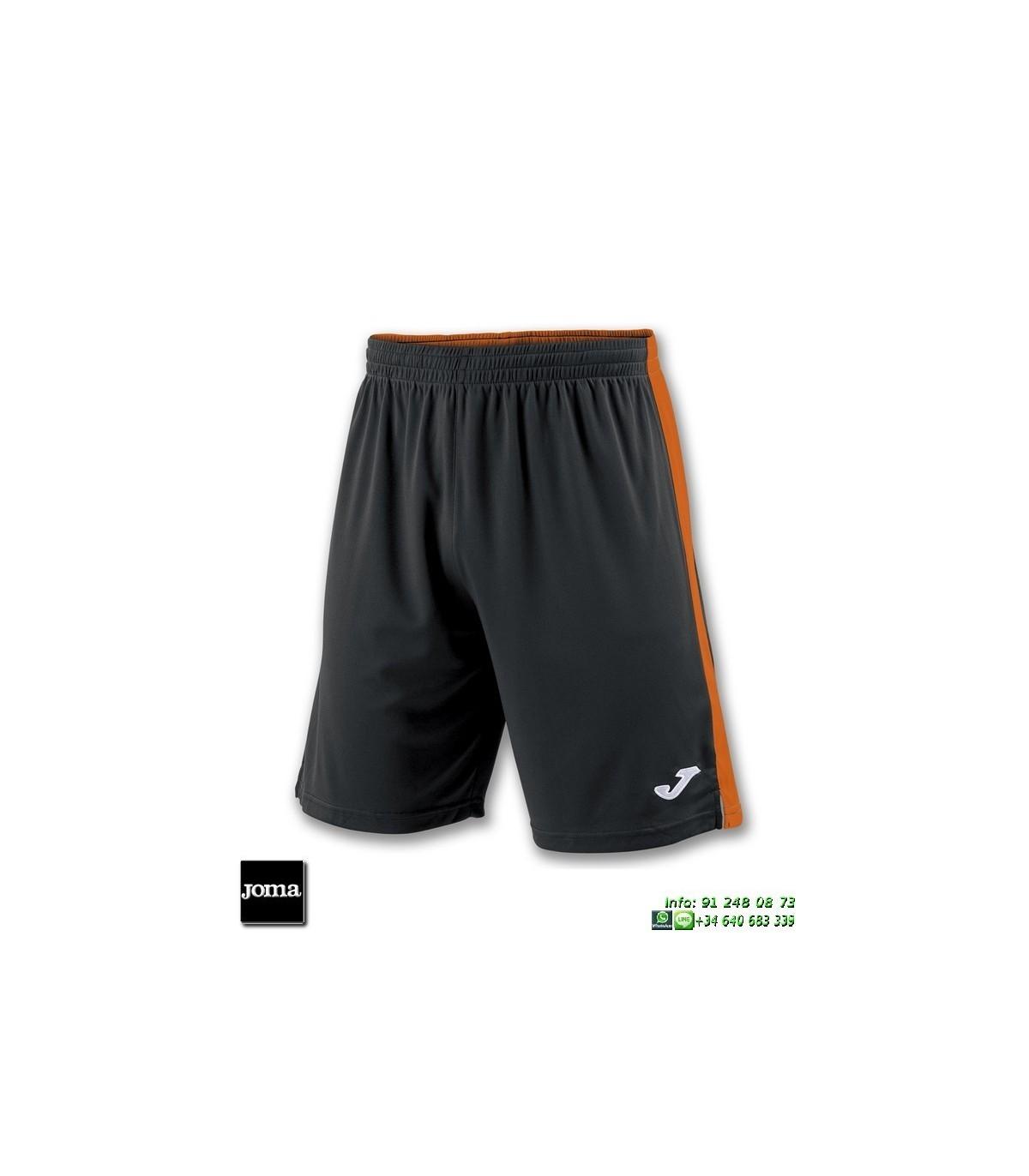 54b89f019c JOMA Pantalon Corto TOKIO II SHORT Futbol NEGRO NARANJA 100684.108