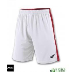 JOMA Pantalon Corto TOKIO II SHORT Futbol BLANCO - ROJO 100684.206