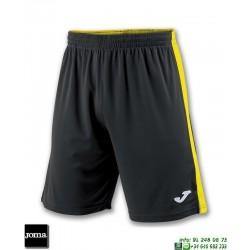 JOMA Pantalon Corto TOKIO II SHORT Futbol NEGRO - AMARILLO 100684.109