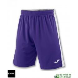 JOMA Pantalon Corto TOKIO II SHORT Futbol BLANCO - MORADO 100684.552