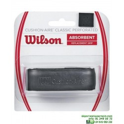 Grip Wilson CUSHION AIRE CLASSIC PERFORATED Puño Tenis negro