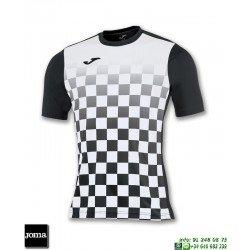 JOMA Camiseta FLAG Futbol NEGRO - BLANCO 100682.102 equipacion