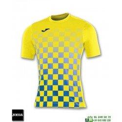 JOMA Camiseta FLAG Futbol AMARILLO - AZUL ROYAL 100682.907 equipacion