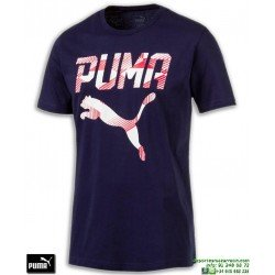 Camiseta Puma BRAND TEE Azul Marino 590959-06