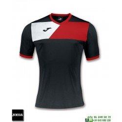 JOMA Camiseta CREW II Futbol NEGRO - ROJO 100611.106 equipacion