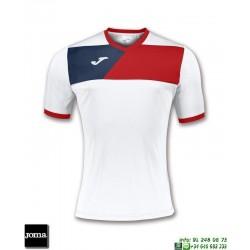 JOMA Camiseta CREW II Futbol BLANCO - ROJO 100611.206 equipacion