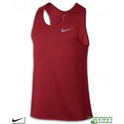 Camiseta Tirantes NIKE DRY MILER TANK Rojo Poliester dri fit Running 833589-502