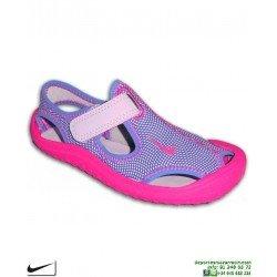 Sandalia Nike SUNRAY PROTECT PS Niña Rosa-morado 903633-500 chancla