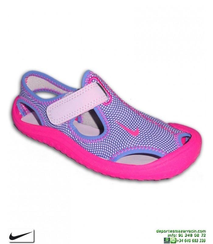 a23073865 Sandalia Nike SUNRAY PROTECT PS Niña Rosa-morado 903633-500 chancla