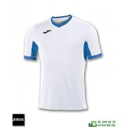 JOMA Camiseta CHAMPION IV Futbol BLANCO - AZUL ROYAL 100683.207