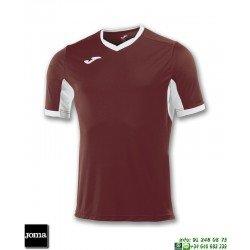 JOMA Camiseta CHAMPION IV Futbol GRANATE BURDEOS - BLANCO 100683.652