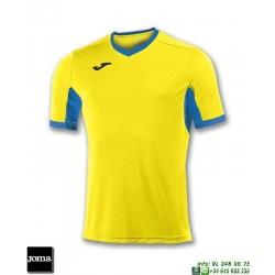 JOMA Camiseta CHAMPION IV Futbol AMARILLO - AZUL ROYAL 100683.907