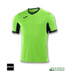 JOMA Camiseta CHAMPION IV Futbol VERDE FLUOR- NEGRO 100683.021
