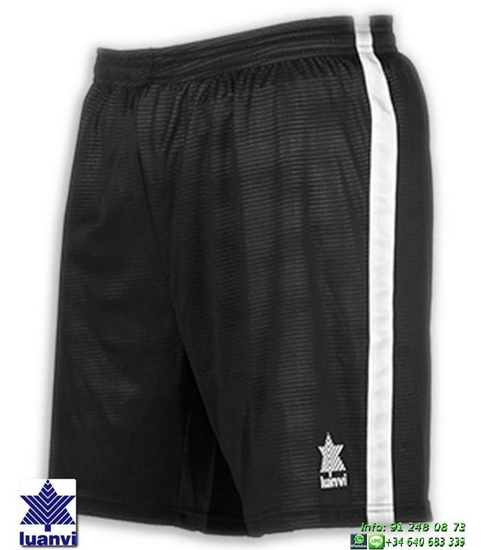 34d6fe4a44 LUANVI Pantalon Corto CAMU Futbol NEGRO 08480-0044 short equipacion