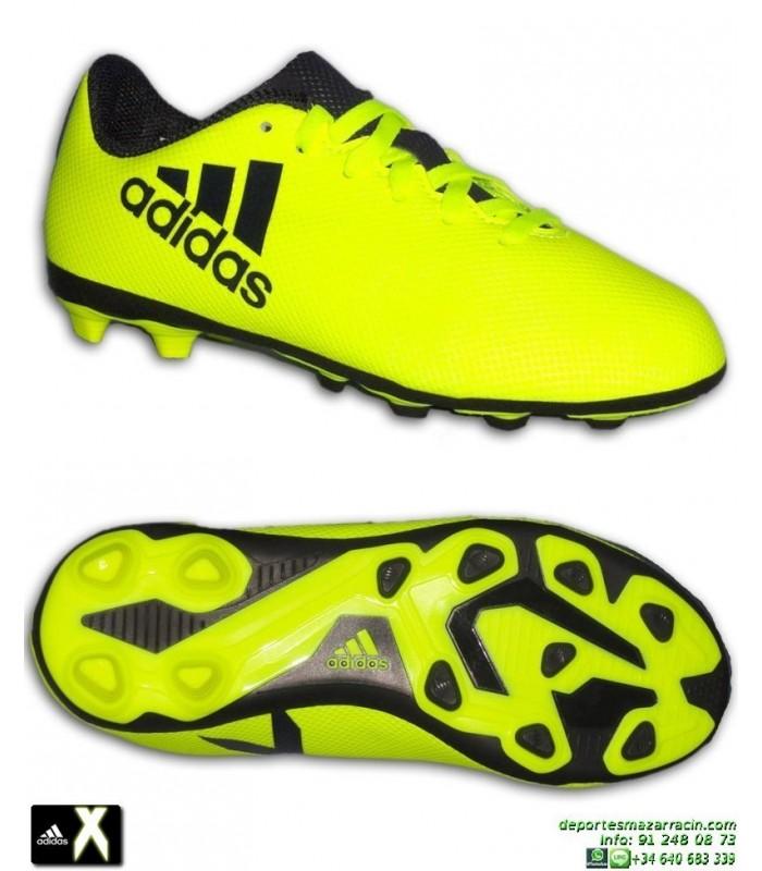 en pies imágenes de selección asombrosa último clasificado ADIDAS X 17.4 niños Amarilla Bota Futbol Hierba Artificial FxG S82404