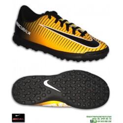 Nike MERCURIAL VORTEX 3 Niño Naranja Zapatilla Futbol Cristiano Neymar Isco Modrić 831954-801