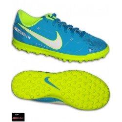 Nike MERCURIAL NEYMAR Niño Azul Zapatilla Futbol Turf Vortex 921497-400 bota hierba artificial