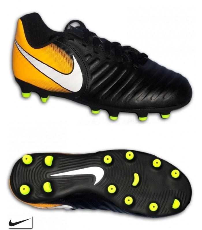 new concept b049a ee5cb Nike TIEMPO RIO 4 Niño Negro Bota Fútbol Tacos FG-R 897731-008 sergio