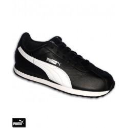 Deportiva Clasica PUMA TURIN Negro-Blanco piel Hombre sneakers chico nike cortez 360116-01