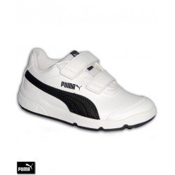 Zapatilla Deporte Niños PUMA STEPFLEEX 2 SL V PS Velcro Blanco-Negro 190114-06