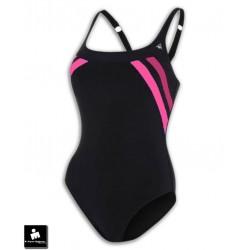 Bañador Natacion Mujer AQUA SPHERE SIENA Negro-Rosa SW1290123
