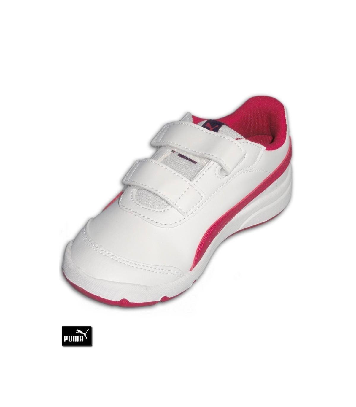 dcadeb6b8a2 ... PUMA STEPFLEEX 2 SL V PS Velcro Blanco-Rosa · Zapatilla Deporte Ni