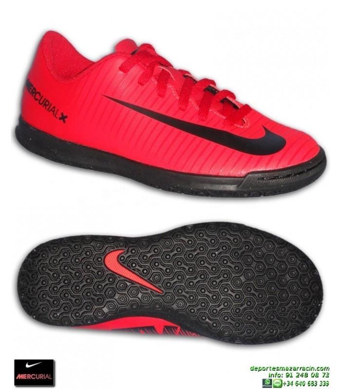 60066db28a8b5 Nike MERCURIAL VORTEX 3 Niño Rojo Zapatilla Futbol Sala barcelona