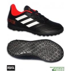 Adidas PREDATOR TANGO 18.4 Niños Negro Zapatilla Microtaco TURF CP9095