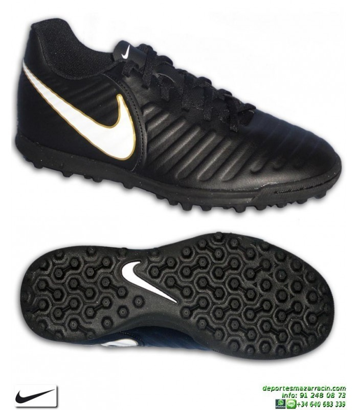 6c9afa63b9e7c Nike TIEMPO RIO 4 Zapatilla Futbol Turf Negro-Blanco 897770-002 bota