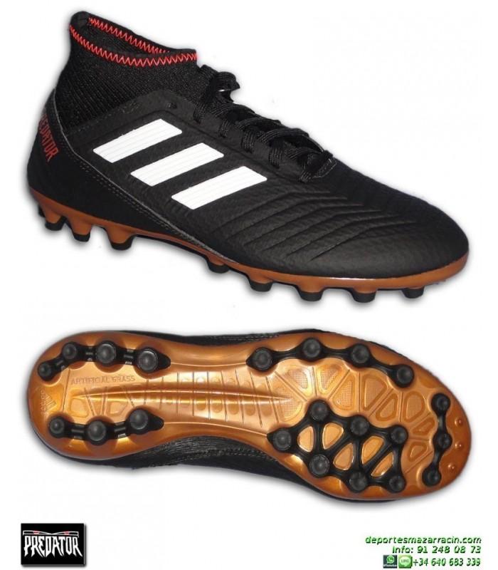 comprar barato muy bonito en pies tiros de Adidas PREDATOR 18.3 AG Calcetin Negra Bota Futbol Hierba Artificial