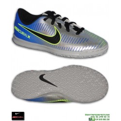 Nike MERCURIAL NEYMAR Niño Plata Zapatilla Futbol Sala vortex 3 PSG 921495-407