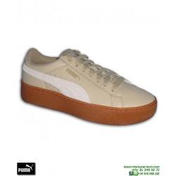 Sneakers Mujer PUMA VIKKY PLATFORM Leather Beige chica Rihanna Creeper 364893-03
