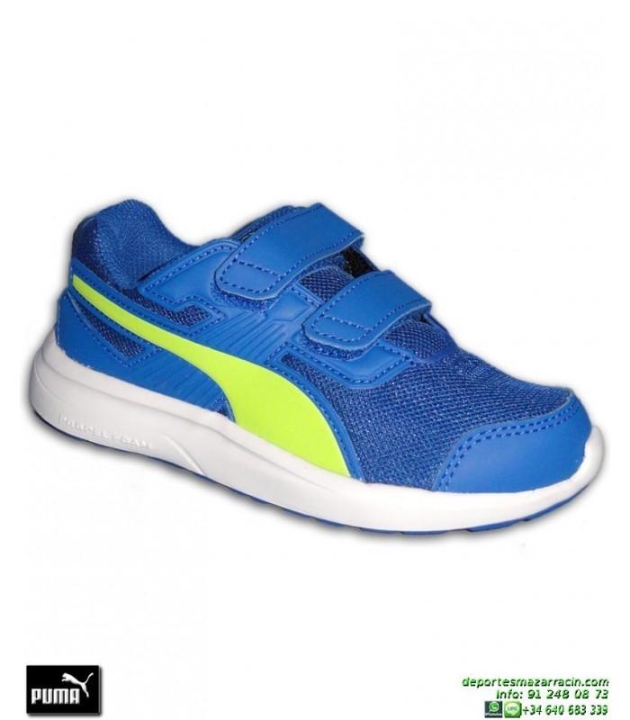 0fbe57ede1a Zapatilla Deporte Niño PUMA ESCAPER MESH PS Velcro Azul 190326-04 junior