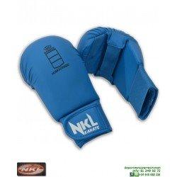 Guantilla Karate NKL Para Kumite SIN PULGAR Azul RFEK