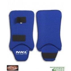 Espinillera Entrenamiento Con Empeine NKL Karate Jiu Jitsu Azul