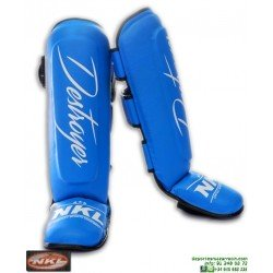Espinillera NKL DESTROYER CES00002 rojo azul negro artes marciales jiu jitsu, kick boxing, Muay-Thai