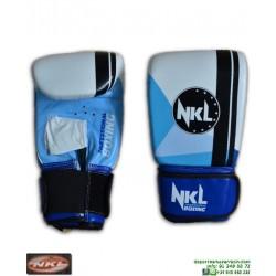 Guantilla Saco Boxeo NKL PRISMA Blanco-Azul deporte gimnasio personalizar