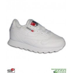 Zapatilla Clasica para Niños John Smith CRESIR K Classic Leather Blanca