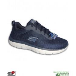 Zapatilla Hombre Skechers FLEX ADVANTAGE 2.0 Dayshow Azul Marino Memory Foam 52125/NVY