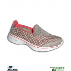 Skechers Mujer GOWALK 4 Kindle zapatilla Memory Foam 14145/TPCL Taupe/Coral