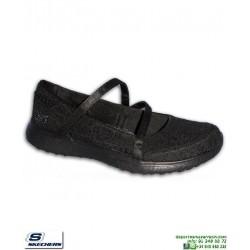 Skechers Mujer MICROBURST PURE ELEGANCE Negro zapatilla Memory Foam 23343/BBK